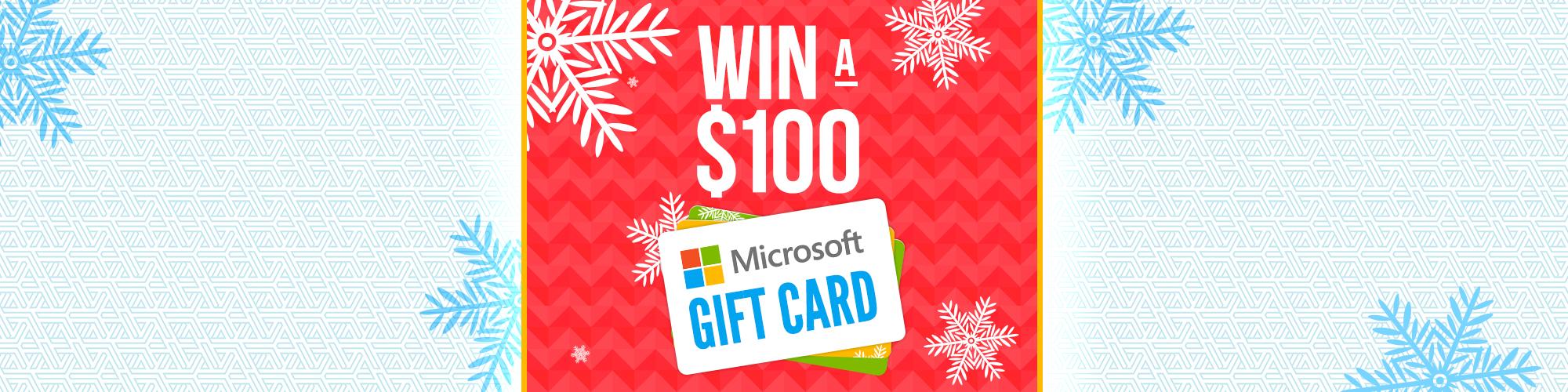 Win a Microsoft Gift Card!