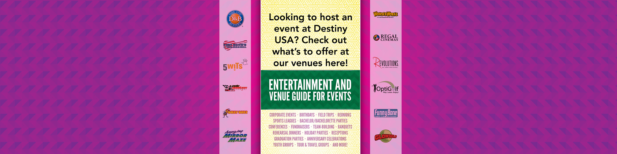 Entertainment and Venue Guide for Events
