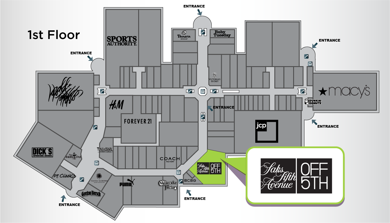 Saks Fifth Avenue OFF 5th Store Location