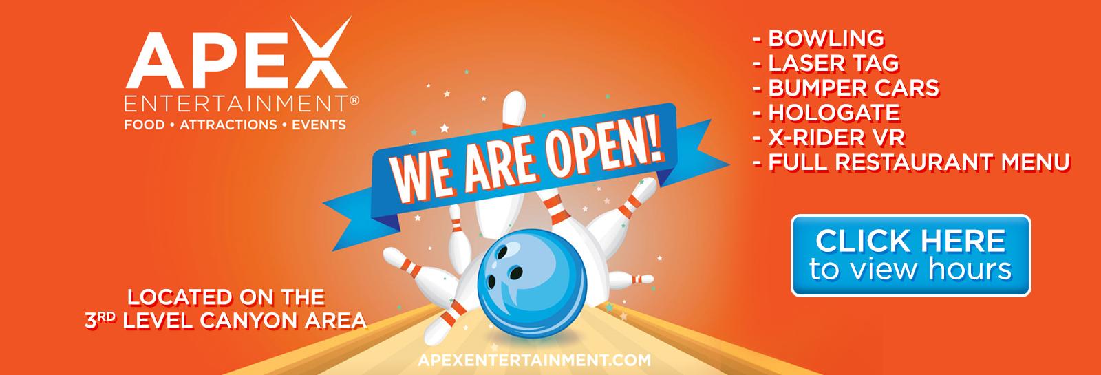 2020 10 06 APEX now open slider