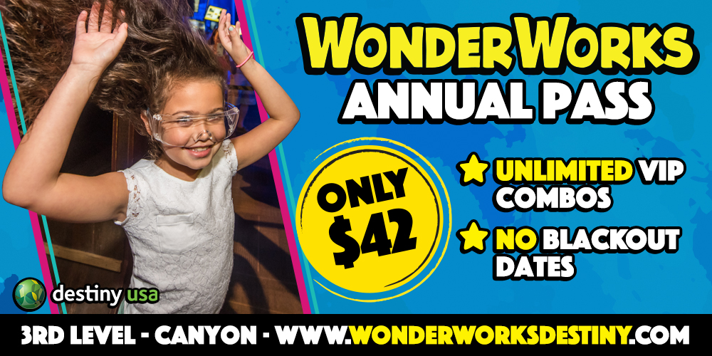 WonderWorks Banner Annual Pass 1000x500 Web Banner MAY