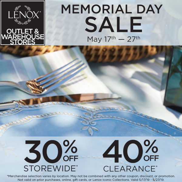 Memorial Day lenox 30 Storewide 40 Clearance3